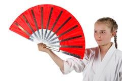 De gaande karate van het Tweenagemeisje royalty-vrije stock afbeeldingen