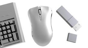 De Gadgets van de computer Stock Fotografie
