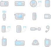 De gadgets van pictogrammen Royalty-vrije Stock Foto's