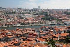 de gaia nova porto portugal vila Royaltyfri Bild