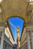 De Galerij Florence Italy van Palazzovecchio Uffizi royalty-vrije stock afbeelding