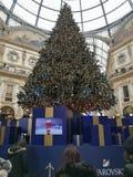 De Galerij Milaan van de Swarovskikerstboom Stock Afbeeldingen