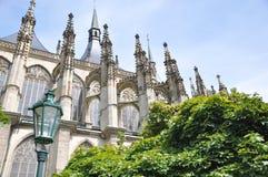 De Galerij van Dresden, Duitsland Gezicht van de yard op zonnige dag stock foto's