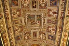 De Galerij van Kaarten in het Vatikaan stock fotografie