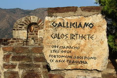 ² de GallicianÃ, Calabria Imagens de Stock