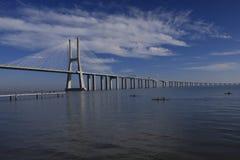 De Gama van Vasco DA brug in Lissabon royalty-vrije stock afbeeldingen