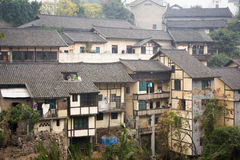 De gamla byggnaderna i södra Kina royaltyfri foto