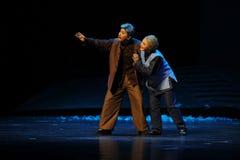 De gamla paren hoppas den Jiangxi operan en besman Arkivfoton