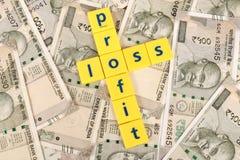 De ganancias y pérdidas foto de archivo libre de regalías