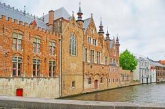 De gang in Brugge Stock Afbeeldingen