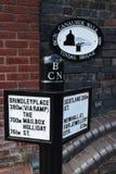 De Gang van Birmingham Canalside - Tindal-Brug stock foto's