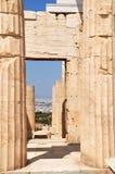 De gang van de Akropolis. Stock Foto