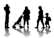 De Gang van de familie vector illustratie