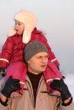 De gang van de winter Royalty-vrije Stock Foto's