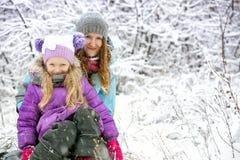De gang van de winter Stock Afbeeldingen