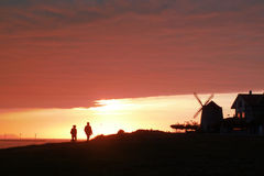 De gang van de zonsondergang Stock Foto's