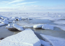 De gang van het ijs Stock Foto's