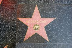 De Gang van Hollywood van Bekendheid - Nicolas Cage Royalty-vrije Stock Afbeeldingen