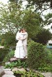 De gang van jonggehuwden Royalty-vrije Stock Foto's