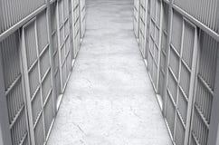De Gangbovenkant van de gevangeniscel Stock Afbeeldingen