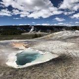 De Gangen van de Yellowstonegeiser Stock Foto's