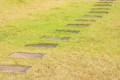 De gangweg van het steenblok Stock Foto's