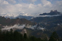 De Gaoligong-bergen Stock Fotografie