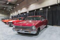 De Garage van de spierauto op vertoning tijdens La Auto toont Royalty-vrije Stock Foto's