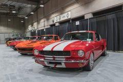 De Garage van de spierauto op vertoning tijdens La Auto toont Royalty-vrije Stock Afbeelding