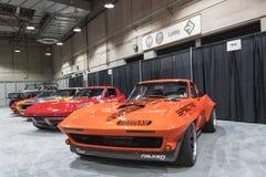 De Garage van de spierauto op vertoning tijdens La Auto toont Stock Foto's