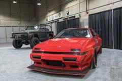 De Garage van de spierauto op vertoning tijdens La Auto toont Stock Fotografie