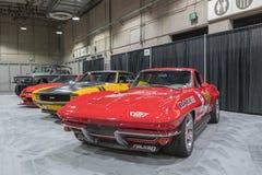 De Garage van de spierauto op vertoning tijdens La Auto toont Stock Foto