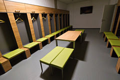 De garderobe van spelers van het stadion van de Arena PGE Stock Foto