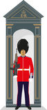 De Gardesoldaat van de schildwachtdoos Stock Afbeeldingen