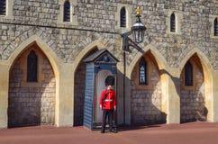 De gardesoldaat van het Windsorkasteel Royalty-vrije Stock Afbeelding