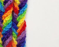 De garens van de wol van verschillende kleuren Stock Fotografie