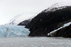 De Garibaldi-gletsjer op de archipel van Tierra del Fuego stock foto