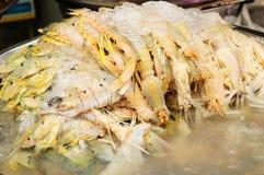 De garnalen van bidsprinkhanen met ijs Royalty-vrije Stock Fotografie