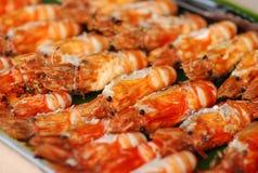 De garnalen van de barbecue Stock Foto's