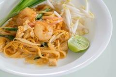 De garnalen vullen Thai (de nationale schotels van Thailand) op Royalty-vrije Stock Foto