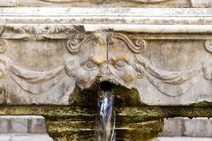 De Garraffello-fontein in Palermo, Italië stock afbeelding