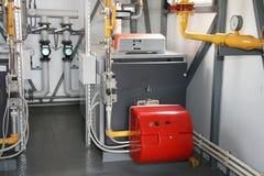 De gasboiler Stock Afbeeldingen