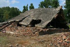 De gaskamers van Auschwitz stock fotografie
