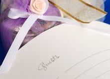 De gastboek van het huwelijk stock fotografie