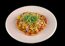 De Gastronomische Pizza van Tandoori   Royalty-vrije Stock Foto