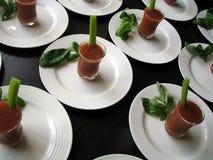 De gastronomische Schoten van de Bloody mary stock afbeelding