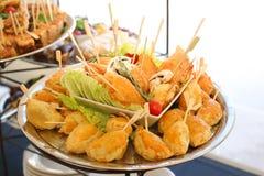 de gastronomische snoepjes van voorgerechtencakes Royalty-vrije Stock Fotografie