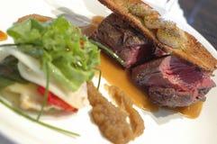 De gastronomische stijl van het lapje vlees Stock Foto