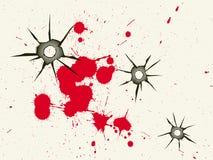 De gaten en het bloed van de kogel vector illustratie