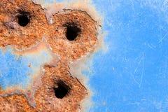 De gaten van de kogel Stock Fotografie